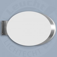 Leuchtkasten -High End- oval 2-seitig